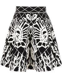 Alexander McQueen - Jacquard-knit Mini Skirt - Lyst