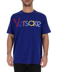 Versace - Font S/s T-shirt - Lyst