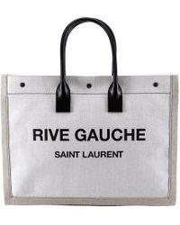 Saint Laurent - Beige Rive Gauche Noe Tote - Lyst