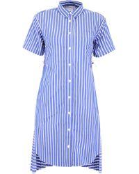 Sacai Layered Back Shirt Dress - Blue