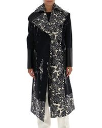 Alexander McQueen - Printed Double-breasted Coat - Lyst