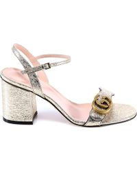 cac152272b8 Gucci - Logo Strappy Sandals - Lyst