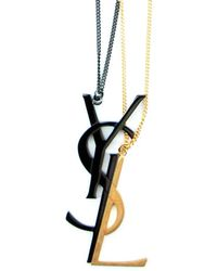 Saint Laurent - Signature Monogram Necklace - Lyst