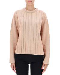 Chloé - Round-neck Striped Sweater - Lyst