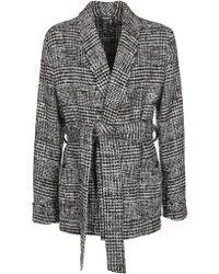 Dolce & Gabbana - Checked Tie Coat - Lyst