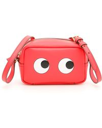 Anya Hindmarch - Mini Eyes Crossbody Bag In Lollipop Calfskin - Lyst