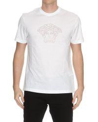 Versace - Crystal Embellished Medusa T-shirt - Lyst