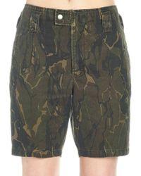 Saint Laurent Camouflage Shorts
