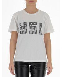 Saint Laurent - Usa Print T-shirt - Lyst
