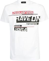 DSquared² - Printed Logo T-shirt - Lyst