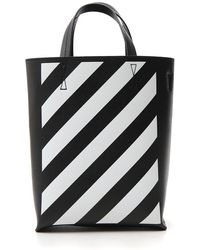 2d48f0214 Off-White c/o Virgil Abloh - Binder Clip Diagonal Striped Tote - Lyst