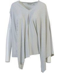 Balenciaga - Striped Draped Top - Lyst