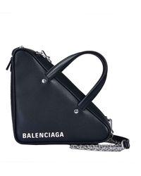 Balenciaga - Triangle Duffle Chain Bag - Lyst