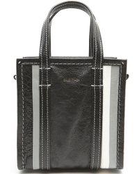Balenciaga - Bazar Stripes Xxs Tote Bag - Lyst