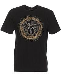 86309b21 Lyst - Versace Studded Medusa Contrast T-shirt in Black for Men