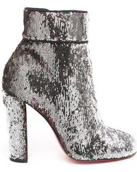 48d864ebf4e8 Lyst - Christian Louboutin Moulamax 100 Sequin Bootie in Red