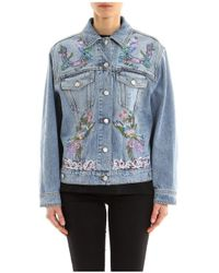Alexander McQueen - Embroidered Denim Jacket - Lyst