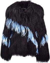 Dries Van Noten - Faux Fur Jacket - Lyst