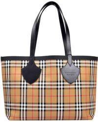 Lyst - Burberry House-checked Large Tote Bag in Brown 607fcd28dda59