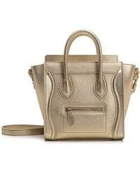 693042f534e8 Lyst - Céline Small Calfskin Tote Bag in Brown