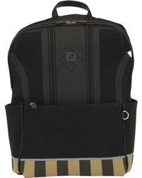 75efce4b5109 Fendi Monogram Stripe Backpack in Black for Men - Lyst