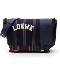 Loewe - Military Messenger Varsity Bag - Lyst