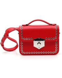 Alexander McQueen - Mini Eyelet Leather Box Bag - Lyst