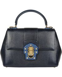 Dolce & Gabbana - Lucia Snake Effect Tote Bag - Lyst