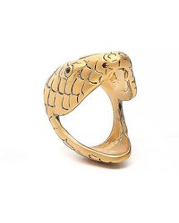 Saint Laurent - Serpent Head Ring - Lyst