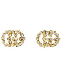 dc534790513b6 Lyst - Gucci 18k Yellow Gold GG Running Cufflinks in Metallic