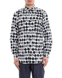 Comme des Garçons - Polka Dot Cartoon Shirt - Lyst