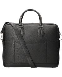 Bally - Plain Textured Briefcase - Lyst