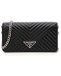 Prada - Quilted Chain Mini Crossbody Bag - Lyst