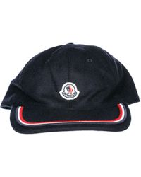 31175501a Moncler Cotton Baseball Cap - For Men in Red for Men - Lyst