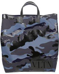 Valentino - Garavani Vltn Camouflage Tote Bag - Lyst