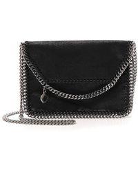 b0d483393171c Lyst - Stella McCartney Falabella Faux Fur Shoulder Bag in Black