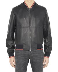 Dior Homme - Hardior Leather Bomber Jacket - Lyst