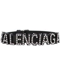 Balenciaga - Leather, Metal And Crystal Choker - Lyst