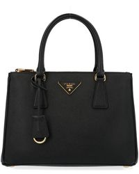 Prada Galleria Small Tote Bag - Black