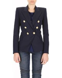 Balmain - Double-Breasted Wool Jacket - Lyst