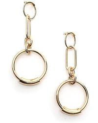 Chloé - Drop Hoop Earrings - Lyst