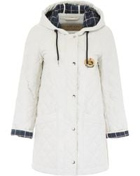 Burberry - Quilted Hooded Jacket - Lyst
