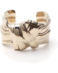 Saint Laurent - Bow Cuff Bracelet - Lyst