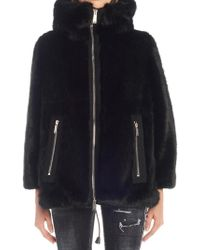 DSquared² - Faux Fur Zip-up Jacket - Lyst