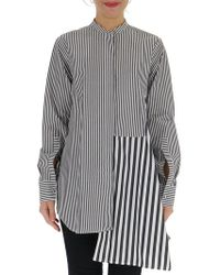 Ports 1961 - Contrasting Stiped Paneled Shirt - Lyst