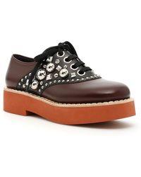 Miu Miu - Studded Lace-up Shoes - Lyst