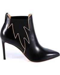 Francesco Russo - Deatiled Ankle Flame Booties - Lyst