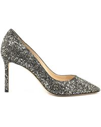 Jimmy Choo - Romy 85 Glitter Pumps - Lyst