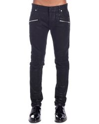 Balmain - Slim-fitted Denim Jeans - Lyst