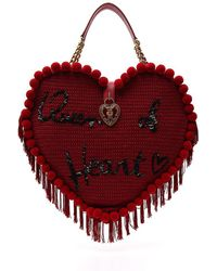 Dolce & Gabbana - Embellished Heart Tote - Lyst